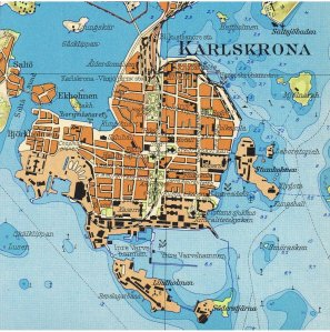 Mappa di Karlskrona (1929)